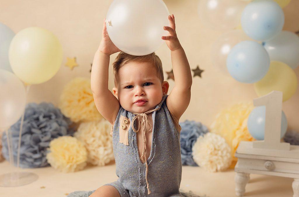 Sesión de fotos del primer cumpleaños
