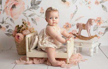 fotos de bebé con meses