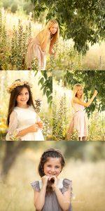sesión de fotos de niños en exterior