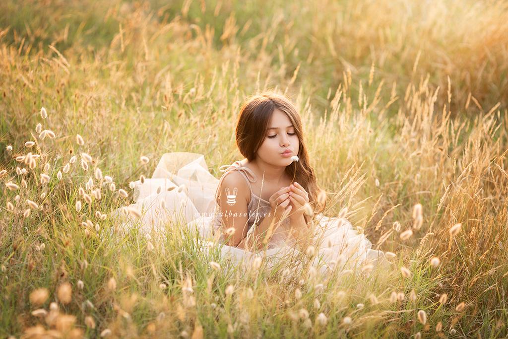 Fotografía con magia de niños en exterior