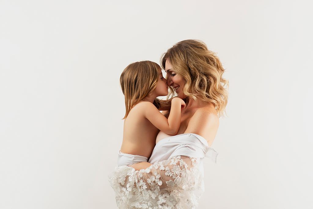 retrato artístico madre e hija